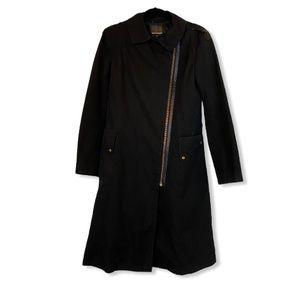 MACKAGE Nylon Coat with Leather Trim